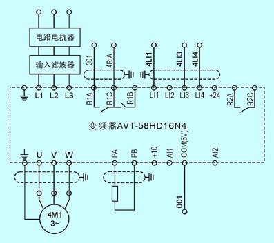 轨道平车的控制原理图